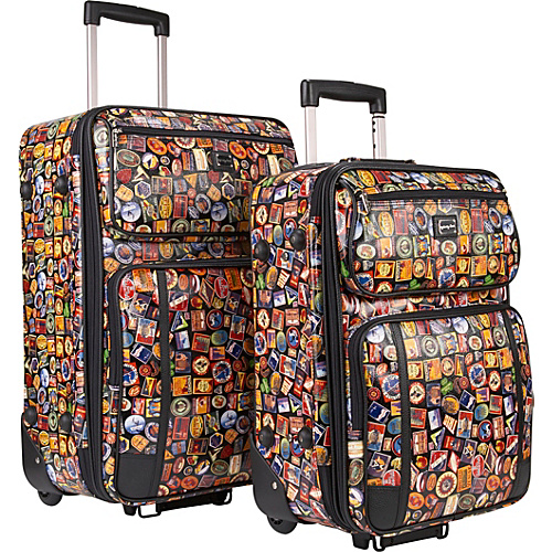 Sydney Love Vintage Hotel 2-Piece Luggage Set - Vintage