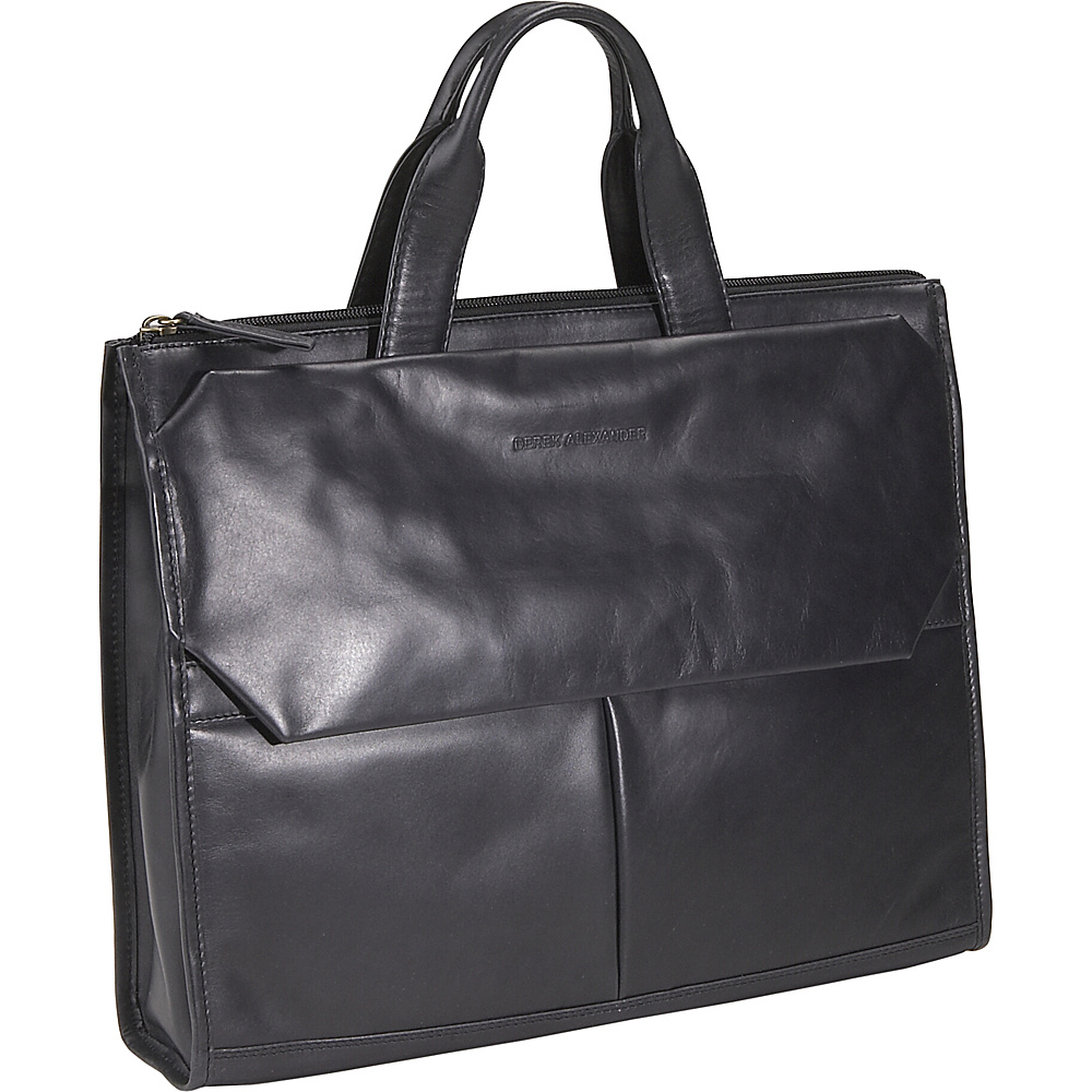 Derek Alexander Zip Top Business Case - Black - Work Bags & Briefcases, Non-Wheeled Business Cases