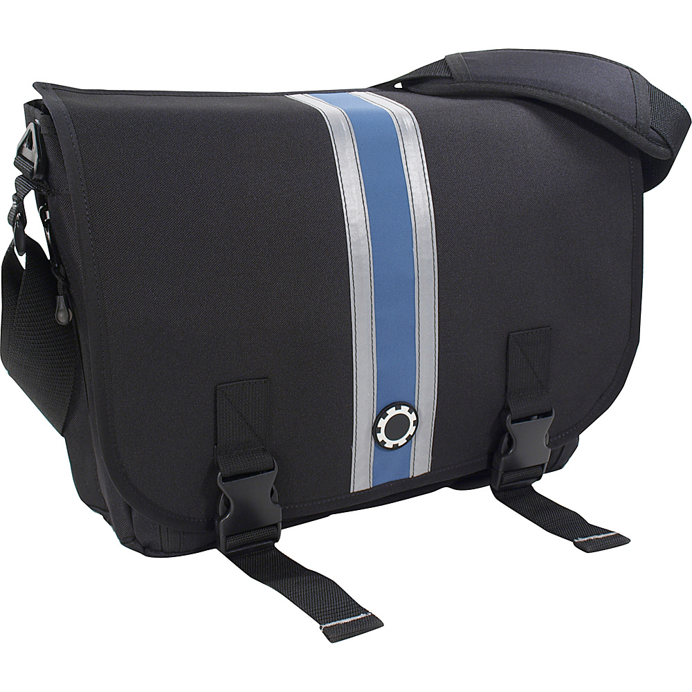 DadGear Messenger Diaper Bag Center Stripe - Slate Blue - Handbags, Diaper Bags & Accessories