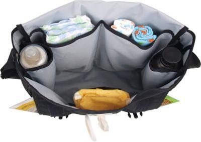 DadGear Messenger Diaper Bag Center Stripe - Orange
