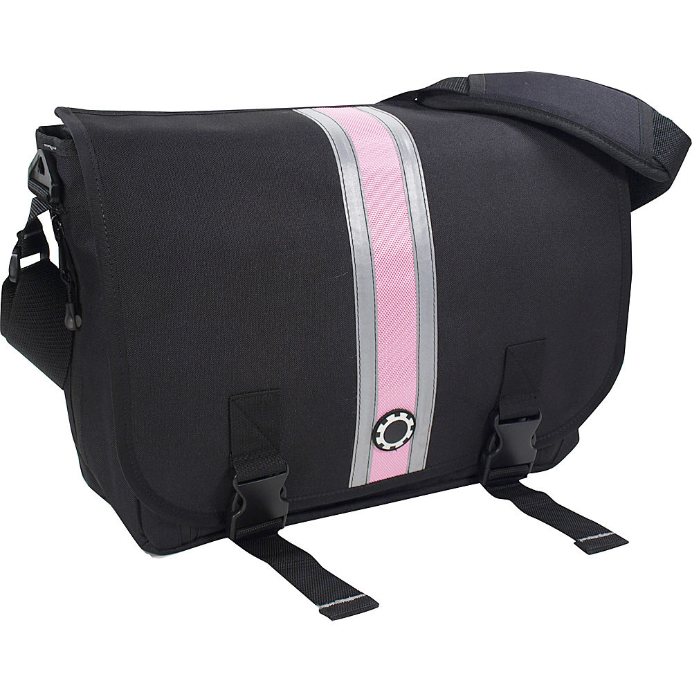 DadGear Messenger Diaper Bag Center Stripe - Pink - Handbags, Diaper Bags & Accessories