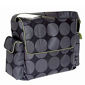 Grey/Lime Dot Diaper Messenger Grey/Lime Dot
