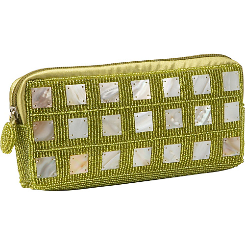Global Elements Beaded Clutch With Mother of Pearl - Clutch