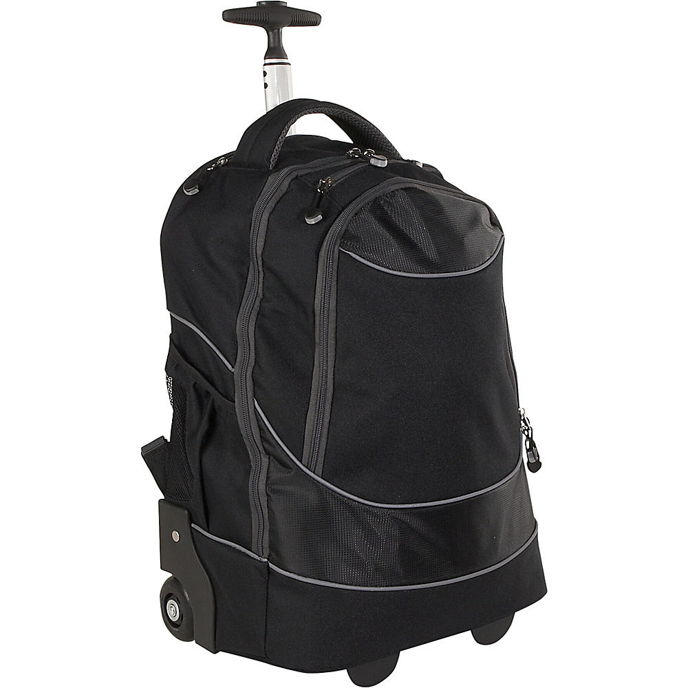 Travelers Choice Rolling Computer Backpack - Black - Backpacks, Rolling Backpacks