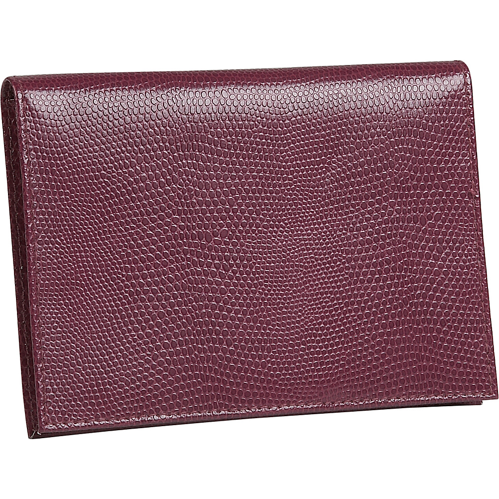 Budd Leather Lizard Print Calf Large Passport Case - Travel Accessories, Travel Wallets