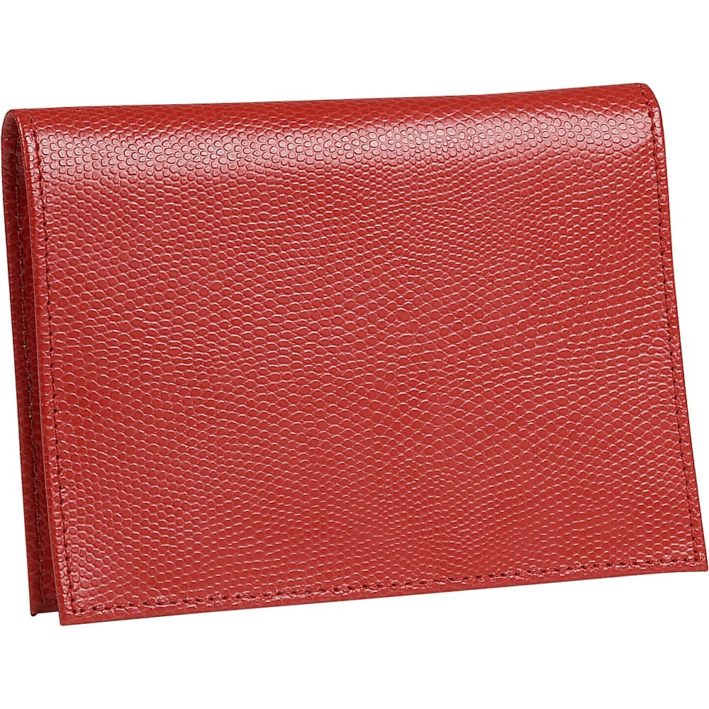 Budd Leather Lizard Print Calf Large Passport Case