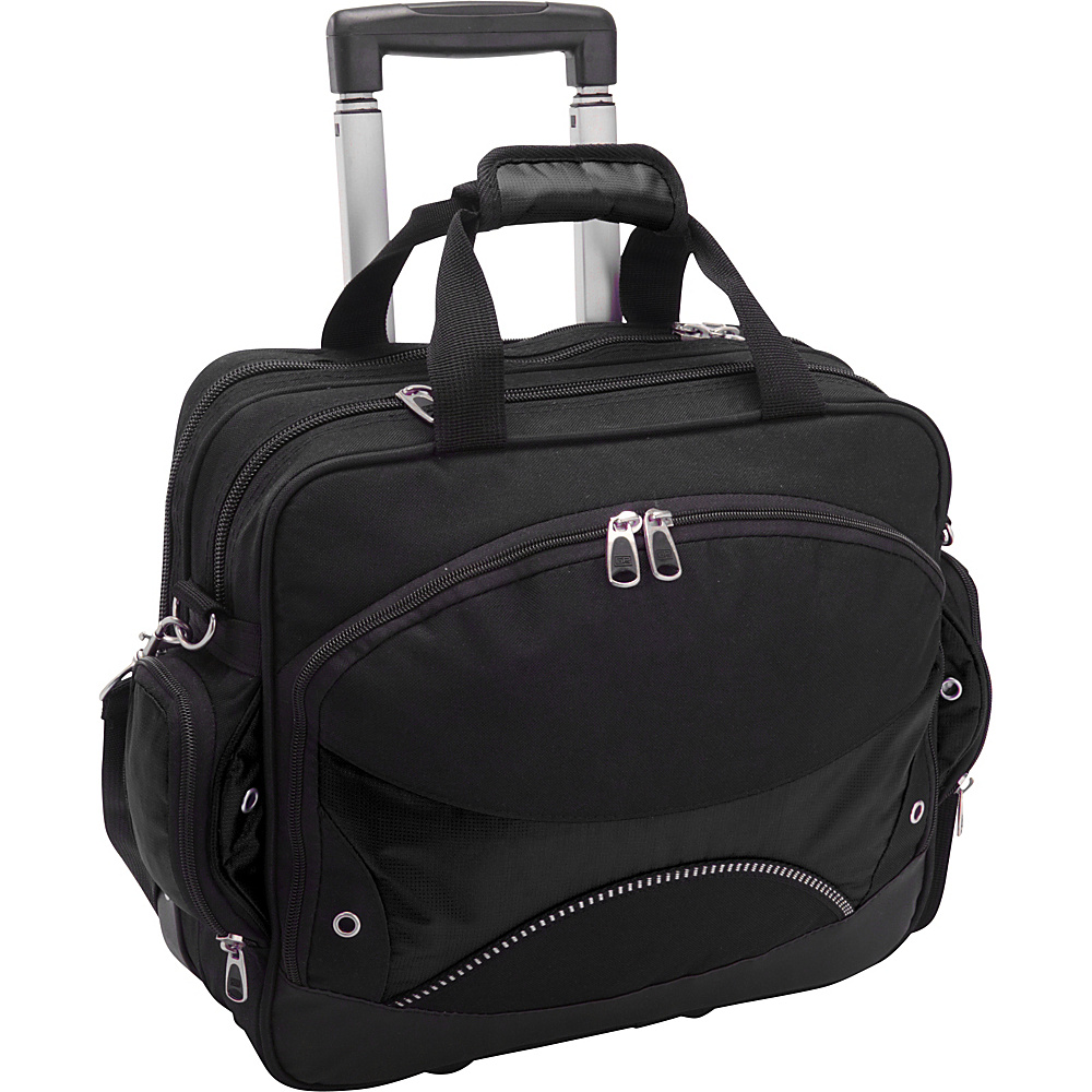 Travelers Choice Techno Rolling Computer Briefcase - Work Bags & Briefcases, Wheeled Business Cases
