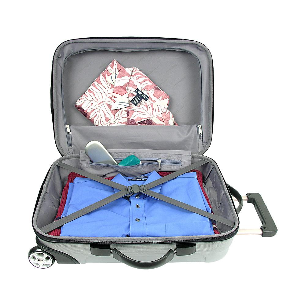 Traveler's Choice Rome 3-Piece Hardshell Spinner/Rolling Luggage Set Black - Traveler's Choice Luggage Sets