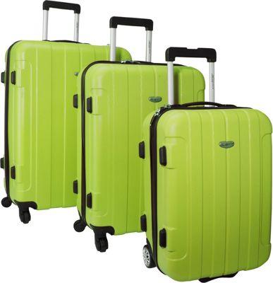 Traveler's Choice Rome 3-Piece Hardshell Spinner/Rolling Luggage Set Green - Traveler's Choice Luggage Sets