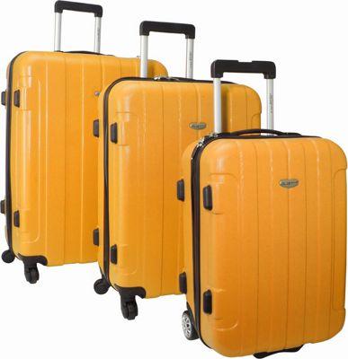 Traveler's Choice Rome 3-Piece Hardshell Spinner/Rolling Luggage Set Orange - Traveler's Choice Luggage Sets
