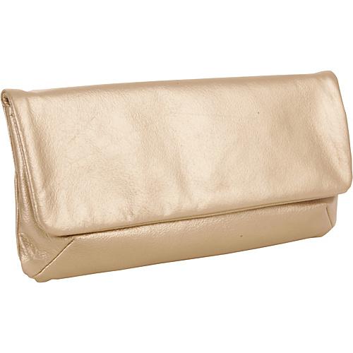LaCroix Handbags Adora Pearlized Gold - LaCroix Handbags Leather Handbags
