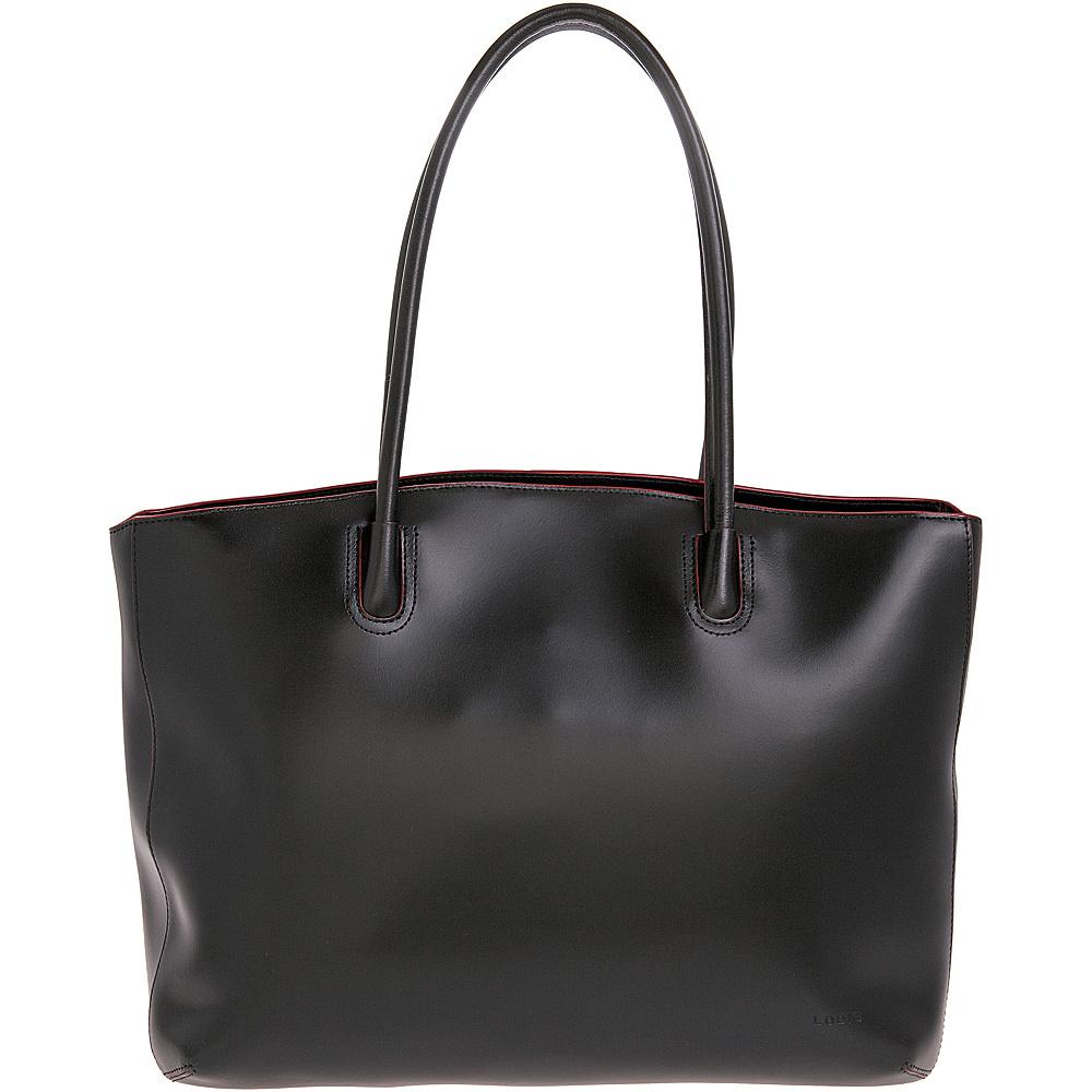 Lodis Audrey Milano Tote - Black - Handbags, Leather Handbags
