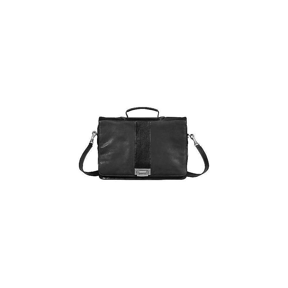 Derek Alexander Executive Style Full Flap Brief - Black - Work Bags & Briefcases, Non-Wheeled Business Cases