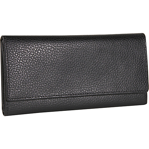 Budd Leather Pebble Grained Leather Continental Wallet
