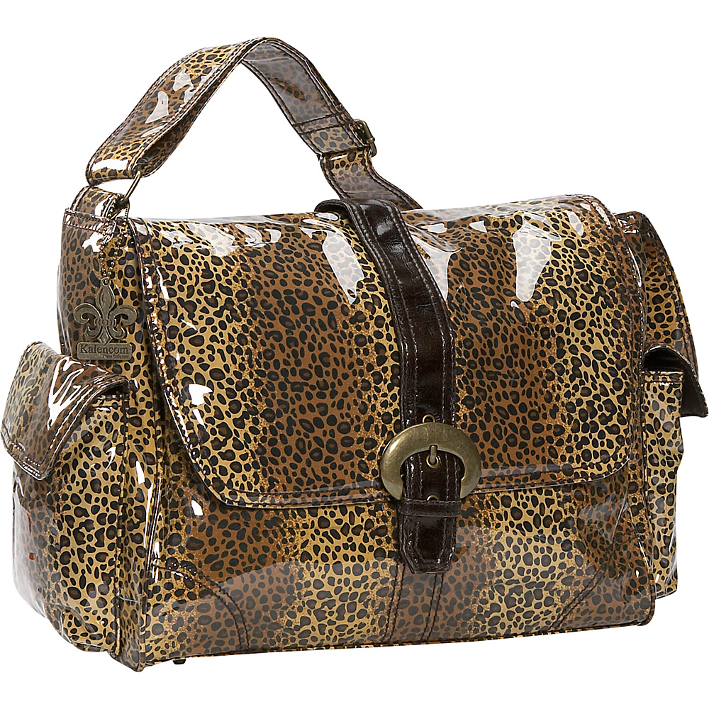 Kalencom Laminated Buckle Diaper Bag - Leopard - Handbags, Diaper Bags & Accessories
