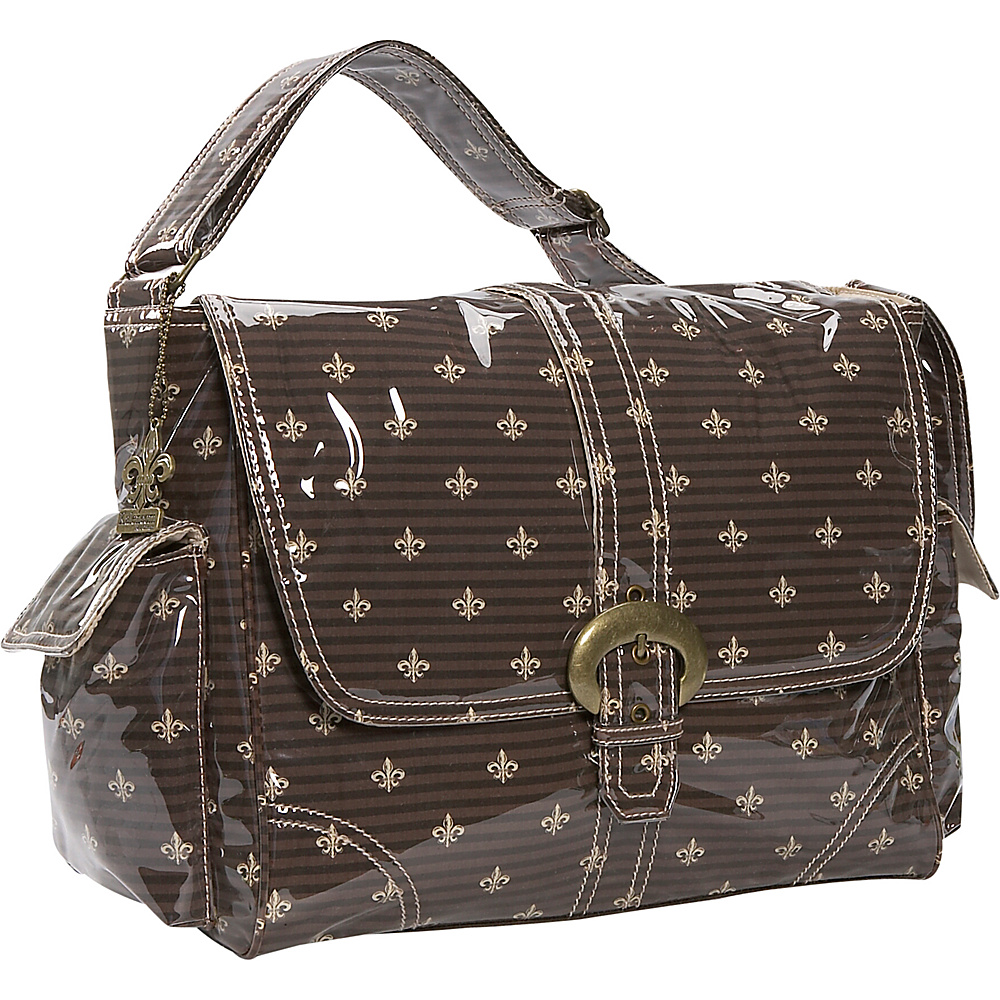 Kalencom Laminated Buckle Diaper Bag - Fleur De Lis - Handbags, Diaper Bags & Accessories