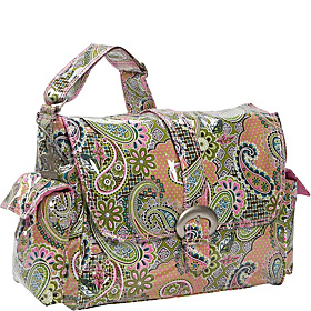 Laminated Buckle Diaper Bag Florentine Paisley Pink