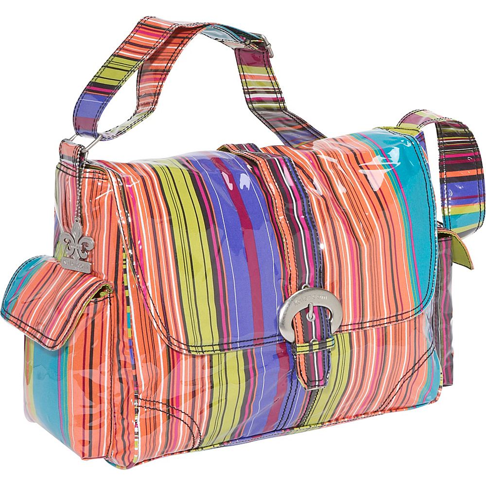 Kalencom Laminated Buckle Diaper Bag - Spize Stripes - Handbags, Diaper Bags & Accessories