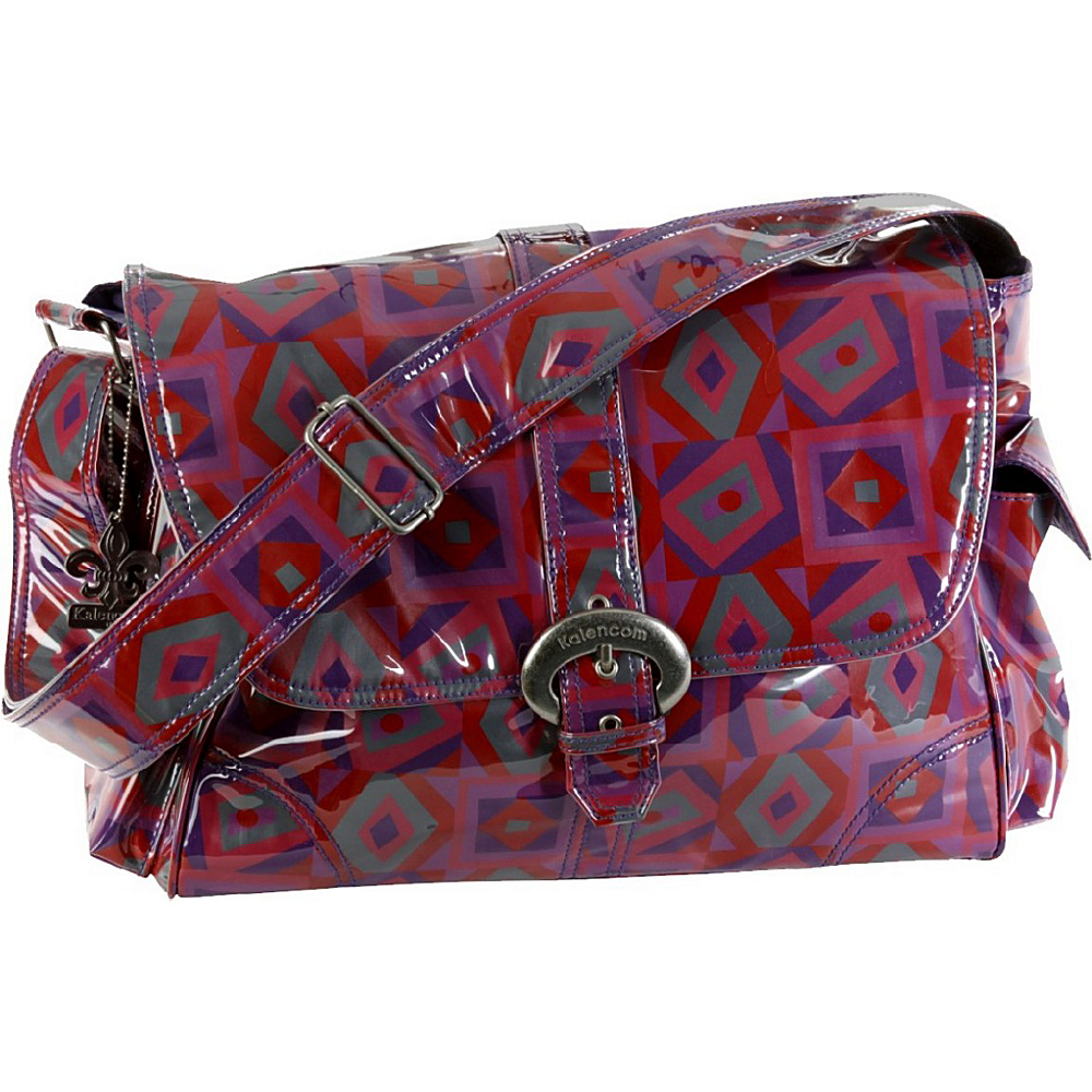 Kalencom Laminated Buckle Diaper Bag - Tic Tac Toe - Handbags, Diaper Bags & Accessories