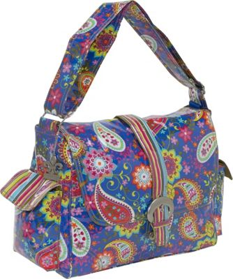 Kalencom Laminated Buckle Diaper Bag - Cobalt Paisley 10140262