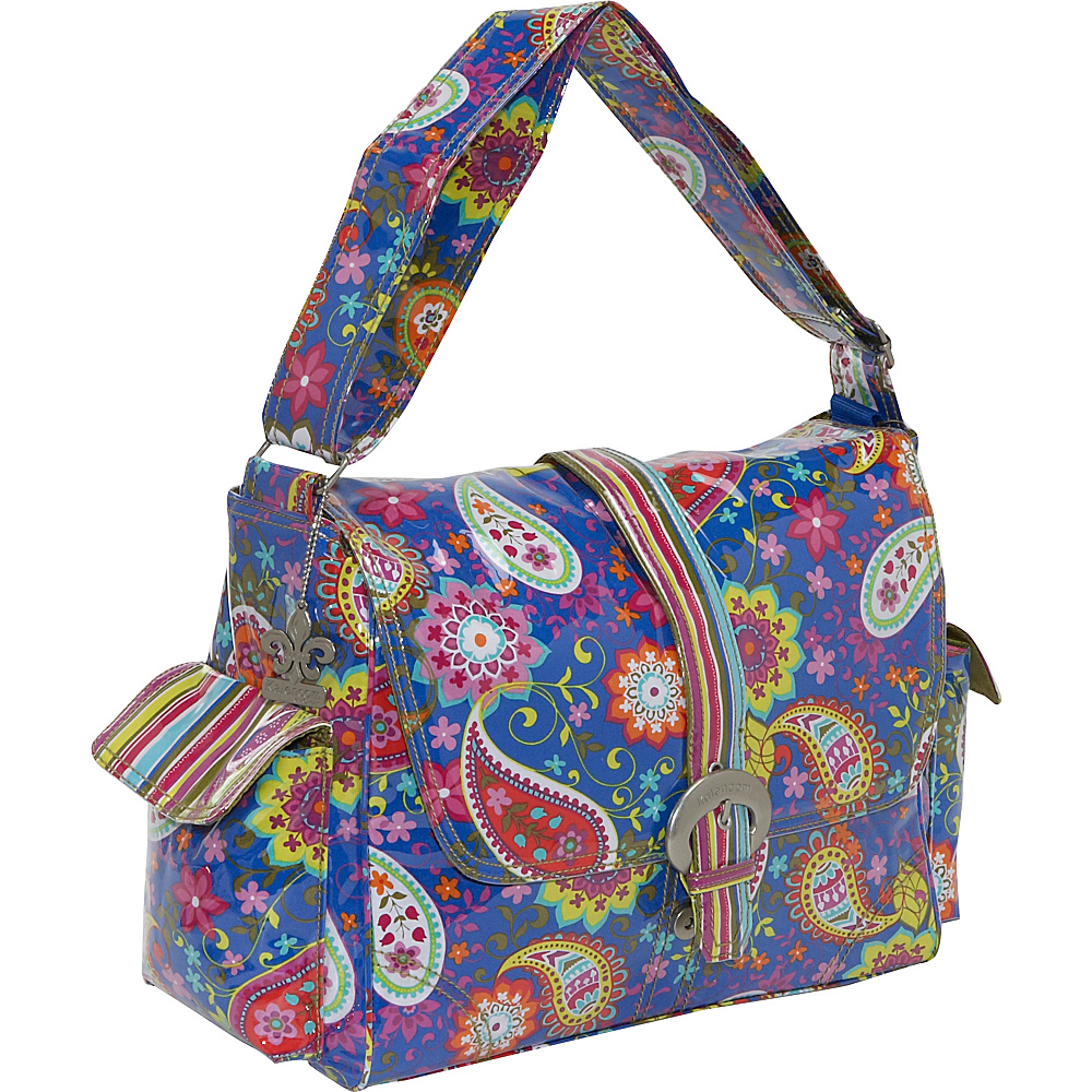 Kalencom Laminated Buckle Diaper Bag - Cobalt Paisley - Handbags, Diaper Bags & Accessories