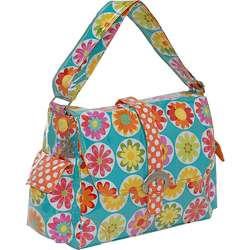 Kalencom Laminated Buckle Diaper Bag - Big Daisy