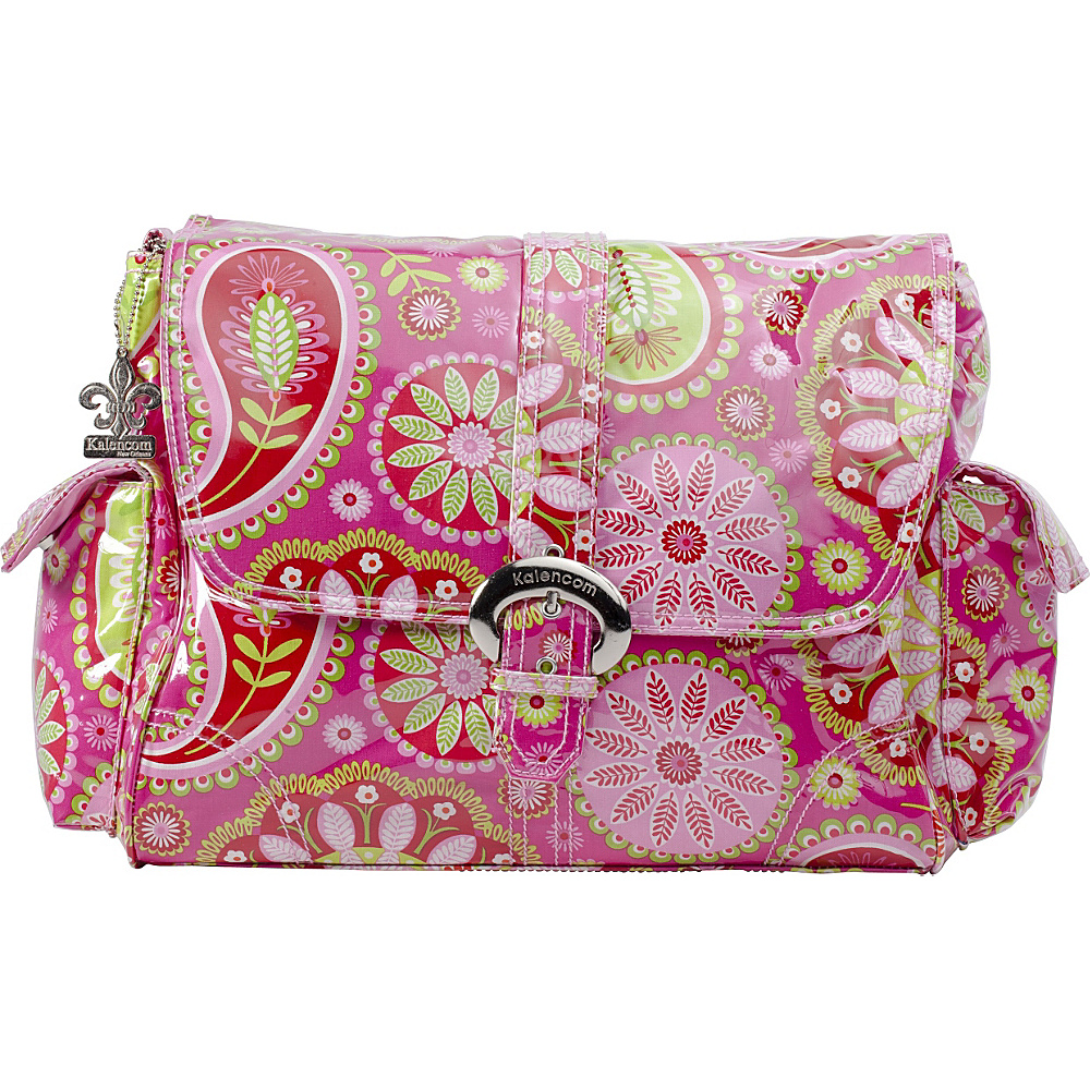 Kalencom Laminated Buckle Diaper Bag Gypsy Paisley Cotton Candy - Kalencom Diaper Bags & Accessories