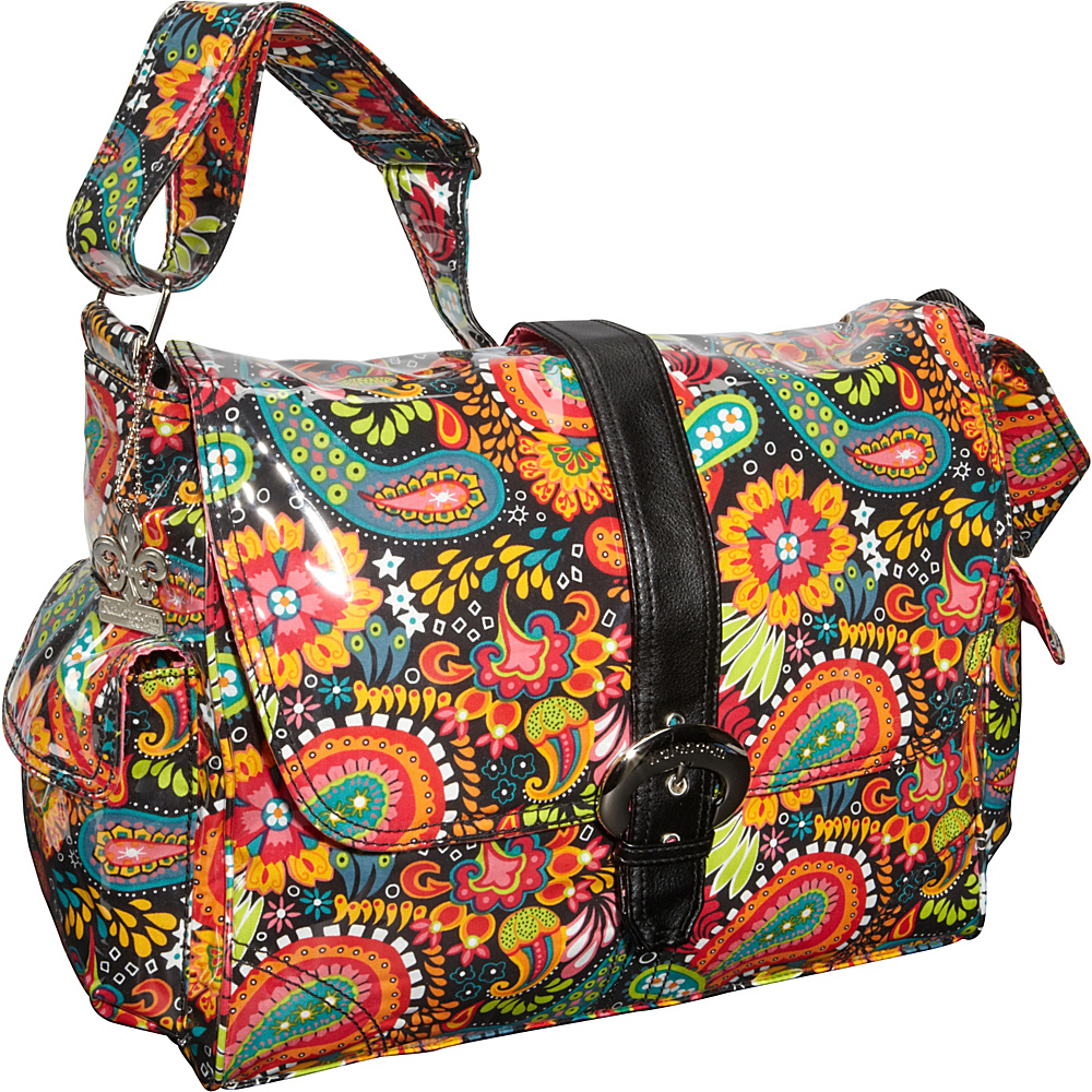 Kalencom Laminated Buckle Diaper Bag Mango Paisley - Kalencom Diaper Bags & Accessories