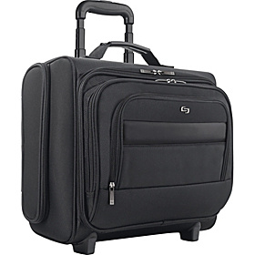 Dual-Access Rolling 15.6'' Computer Overnighter Black