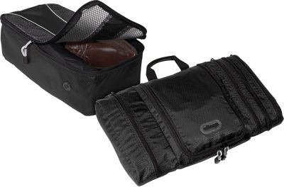eBags Value Set: Pack-It-Flat + Shoe Bag Black - eBags Travel Organizers