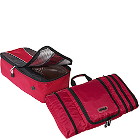 Value Set: Pack-It-Flat + Shoe Bag Raspberry