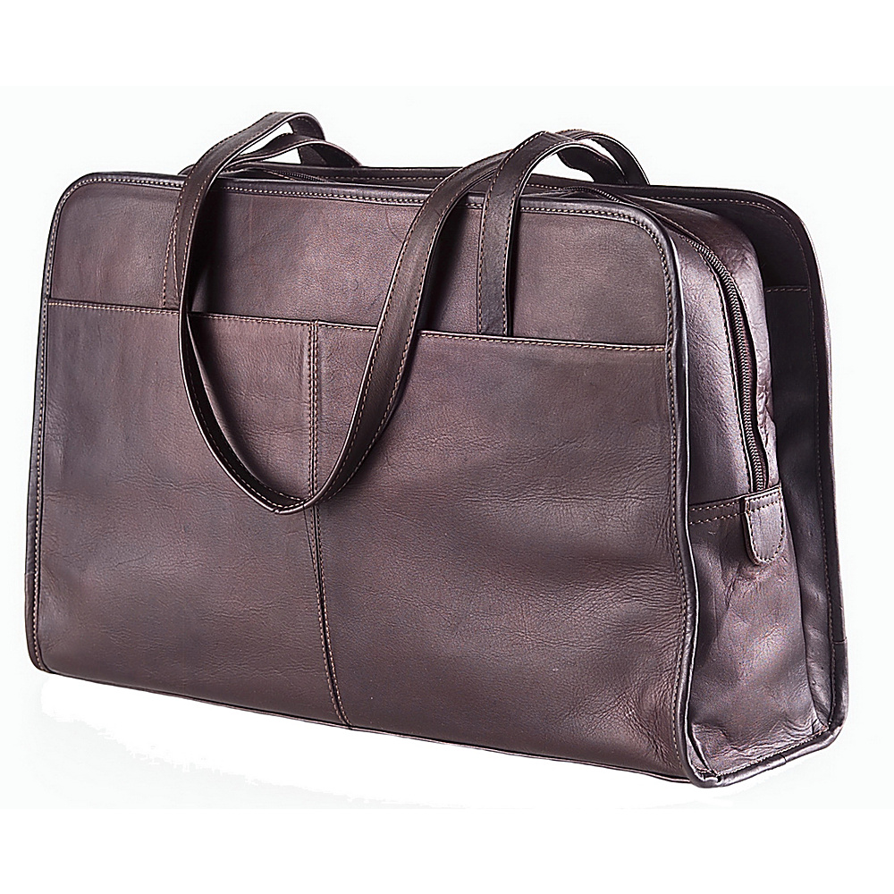 Clava Three Section Tote - Vachetta Cafe - Handbags, Leather Handbags