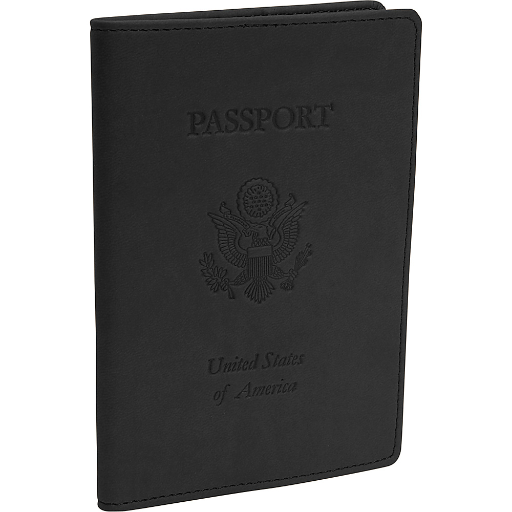 Royce Leather Debossed Passport Jacket - Black - Travel Accessories, Travel Wallets