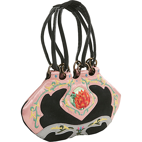 JL Lane Ella Black with Pink - JL Lane Fabric Handbags