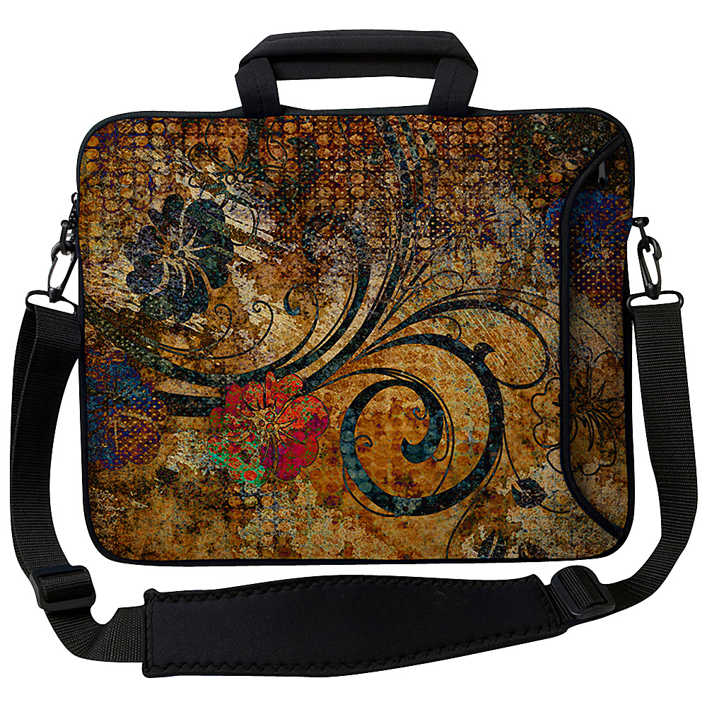 Designer Sleeves 13 Executive Laptop Sleeve Vintage Fleur - Designer Sleeves Electronic Cases - Technology, Electronic Cases