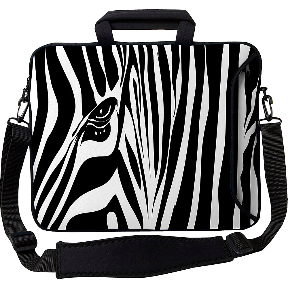 Designer Sleeves 13 Executive Laptop Sleeve Zebra Eye - Designer Sleeves Electronic Cases - Technology, Electronic Cases