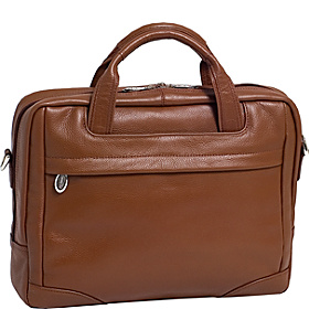 Bronzeville  Leather 15.4'' Laptop Brief Cognac