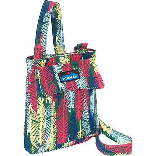 Kavu Mini Keeper Fall Feathers - Kavu Fabric Handbags
