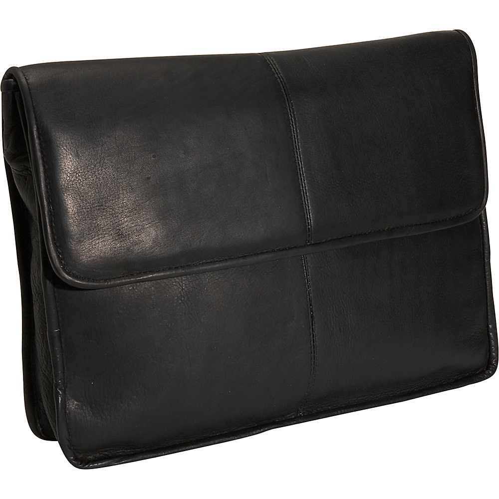 David King & Co. 1/2 Flapover Envelope - Black - Work Bags & Briefcases, Non-Wheeled Business Cases