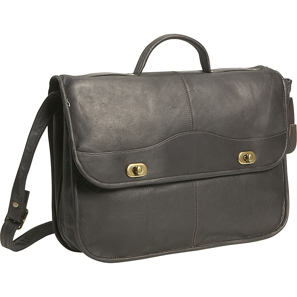 David King & Co. 1/2 Flapover Briefcase - Cafe - Work Bags & Briefcases, Non-Wheeled Business Cases