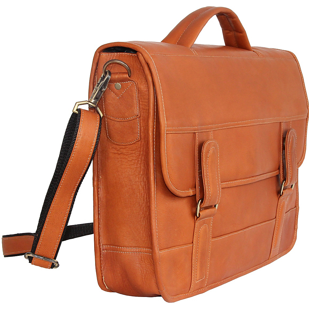 David King & Co. Top Handle Flap Front Expandable Tan - David King & Co. Non-Wheeled Business Cases - Work Bags & Briefcases, Non-Wheeled Business Cases