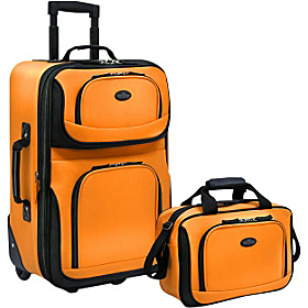 Rio 2-Piece Lightweight Carry-On Luggage Set Mustard