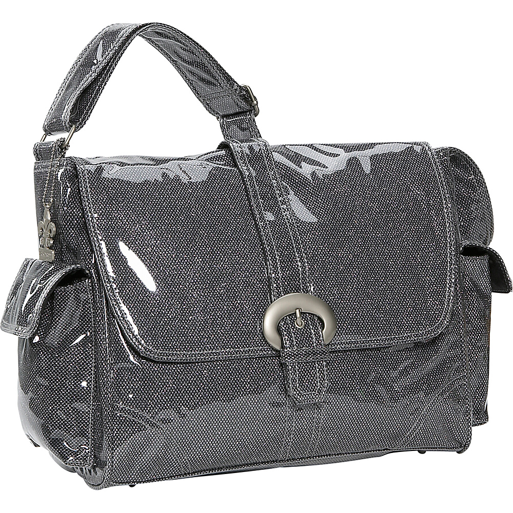 Kalencom Crystals Laminated Buckle Bag - Black Crystals - Handbags, Diaper Bags & Accessories