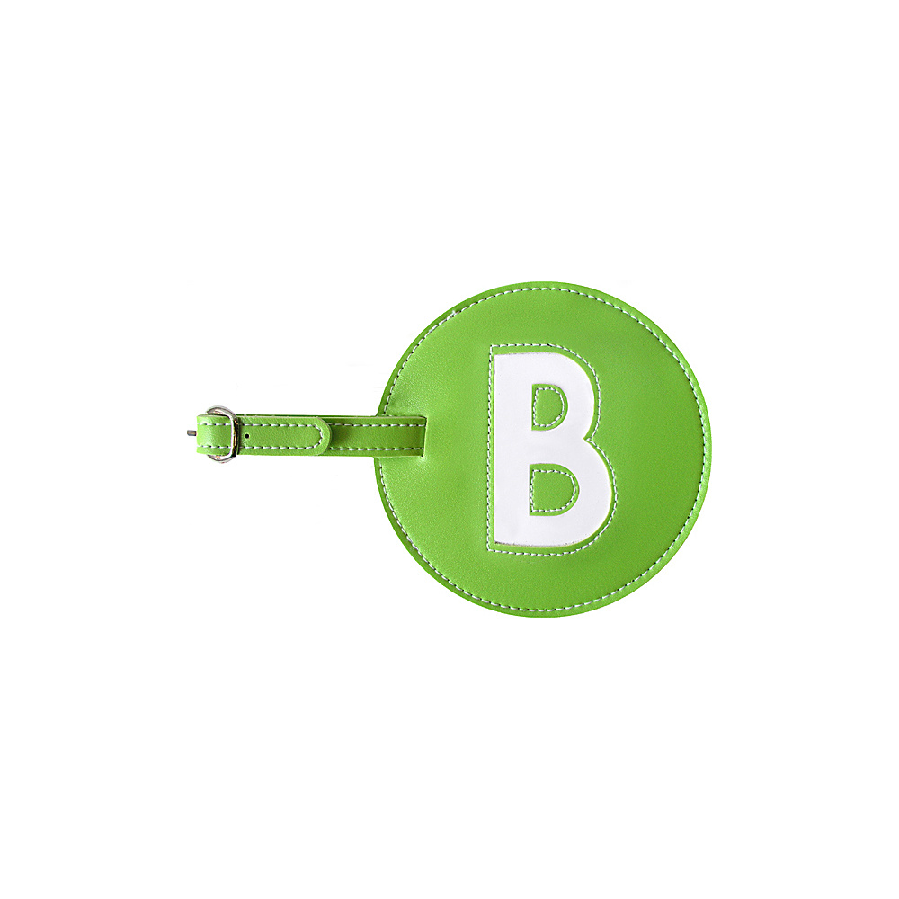 pb travel Initial B Luggage Tag Set of 2 Green pb travel Luggage Accessories