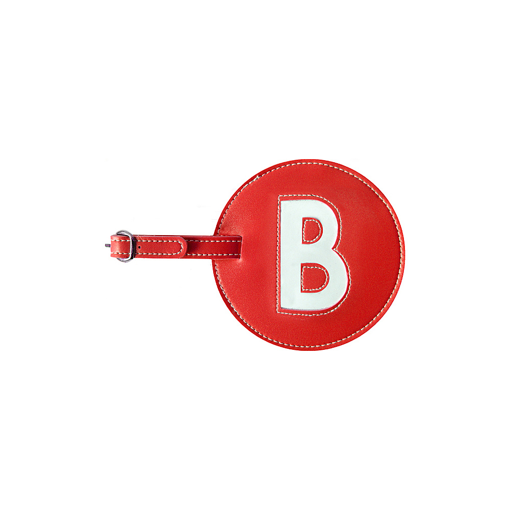 pb travel Initial B Luggage Tag Set of 2 Red pb travel Luggage Accessories