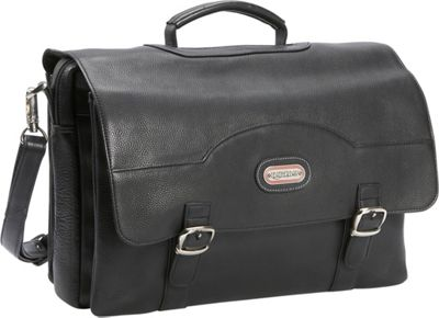 Leatherbay Stanford Leather Briefcase - Black