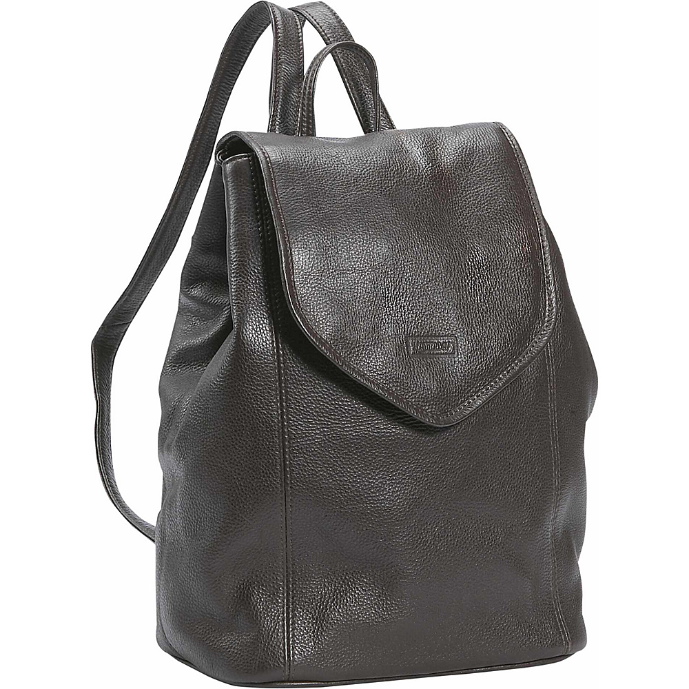 Leatherbay Small Leather Backpack - Dark Chocolate - Handbags, Leather Handbags