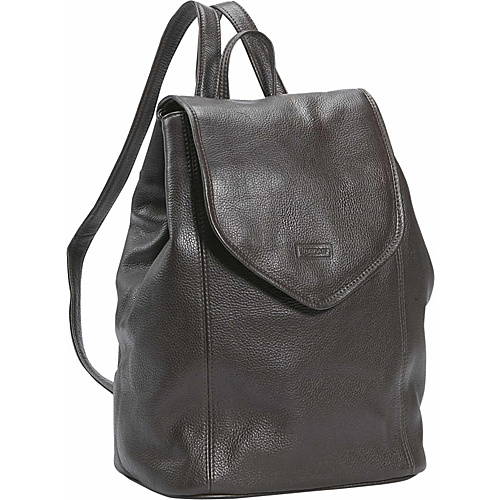 Leatherbay Small Leather Backpack - Dark Chocolate
