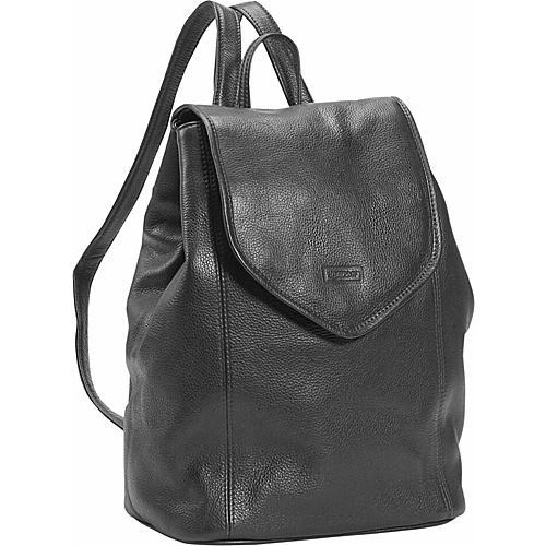 Leatherbay Small Leather Backpack - Black