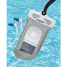 Waterproof MP3 Case with Earbuds As Shown